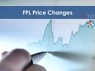FPL GW01 Price Changes