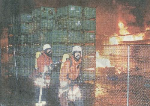 Großbrand Lindach 03.04.2004