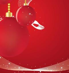 red christmas background with ornaments  [ 1280 x 800 Pixel ]
