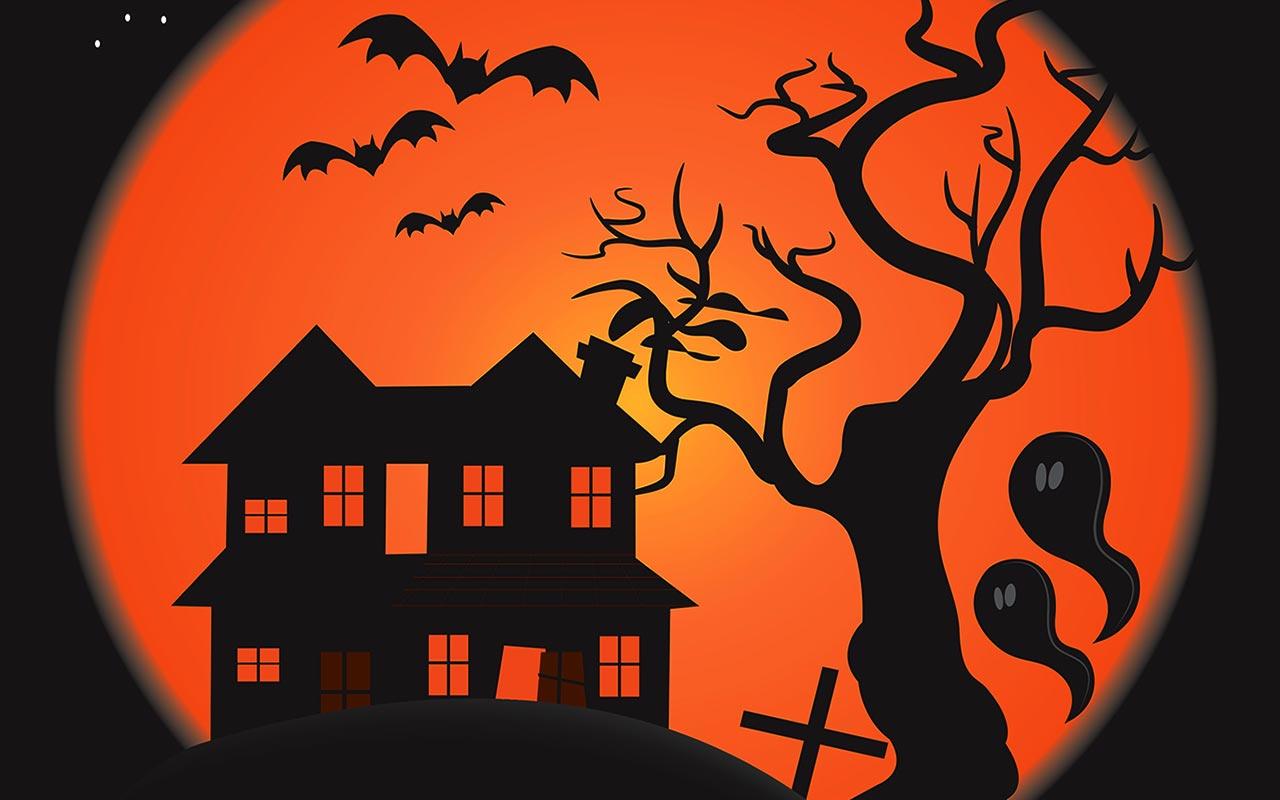 hight resolution of  scary halloween scene