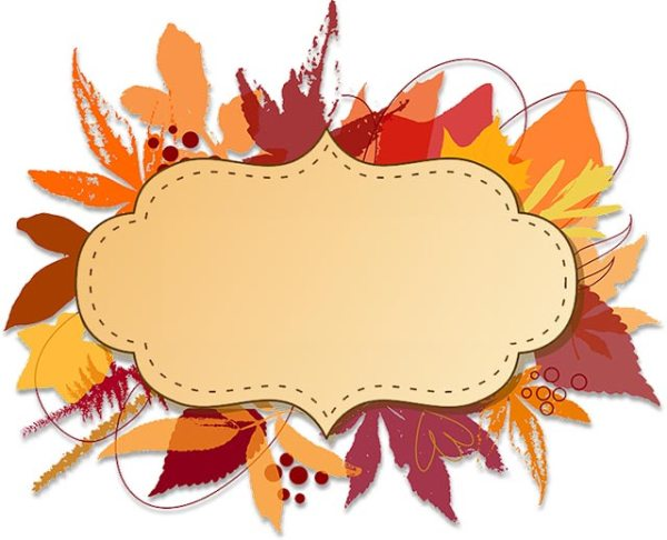 free thanksgiving borders - happy