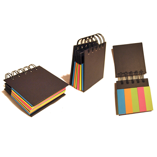 FG293 Wire O Hardcover PostIt Pad  Unique Customized Corporate Gifts