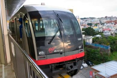 Le nouveau moyen de transport à Okinawa, le Monorail