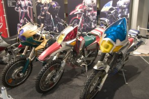3 moto d'une série de type Bioman