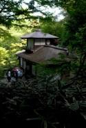 Un des bâtiments rapporté de Kyoto jusqu'au parc Sankei