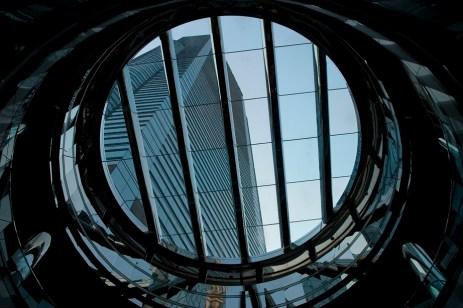 Les hauteurs d'un centre commercial