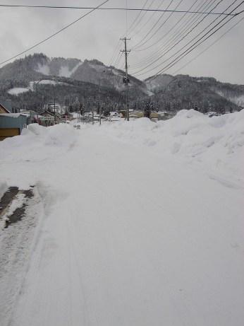 Neige dans la banlieue de Yonezawa