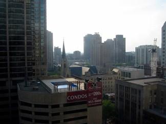 Vue sur Chicago, en haut d'une tour (1)