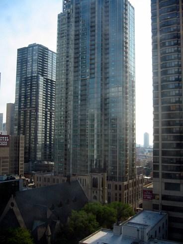 Vue sur Chicago, en haut d'une tour (2)