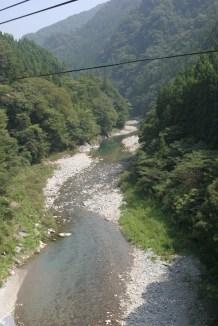 Shikoku est parseme de petits cours d'eau.