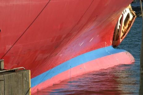 Detail de la coque de notre ferry.