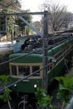 La station de Gokurakuji. Un petit train d'une autre époque est toujours en service.