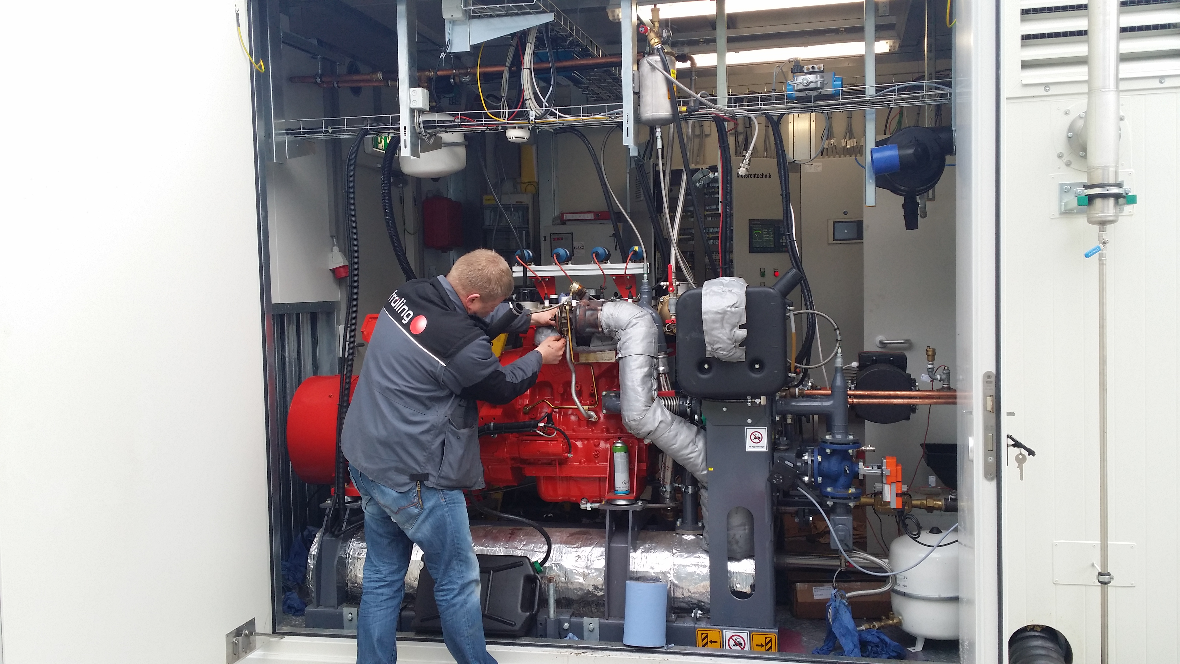 Froling CHP Cardigan Wales - Engine