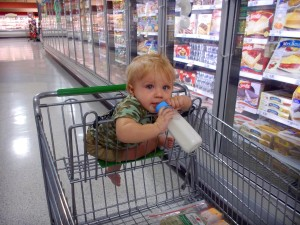 Baby on milk