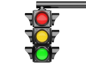 Traffic lights. 3d image isolated on a white background