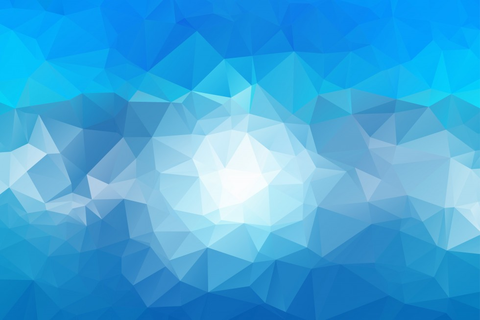 Abstract blue triangle graphic with white centre
