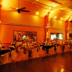 Herreras Reception Hall Amber LED Uplights Full Side Wall From Inside