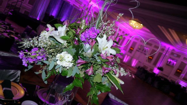 Centerpieces with Beautiful LED Lighting Background