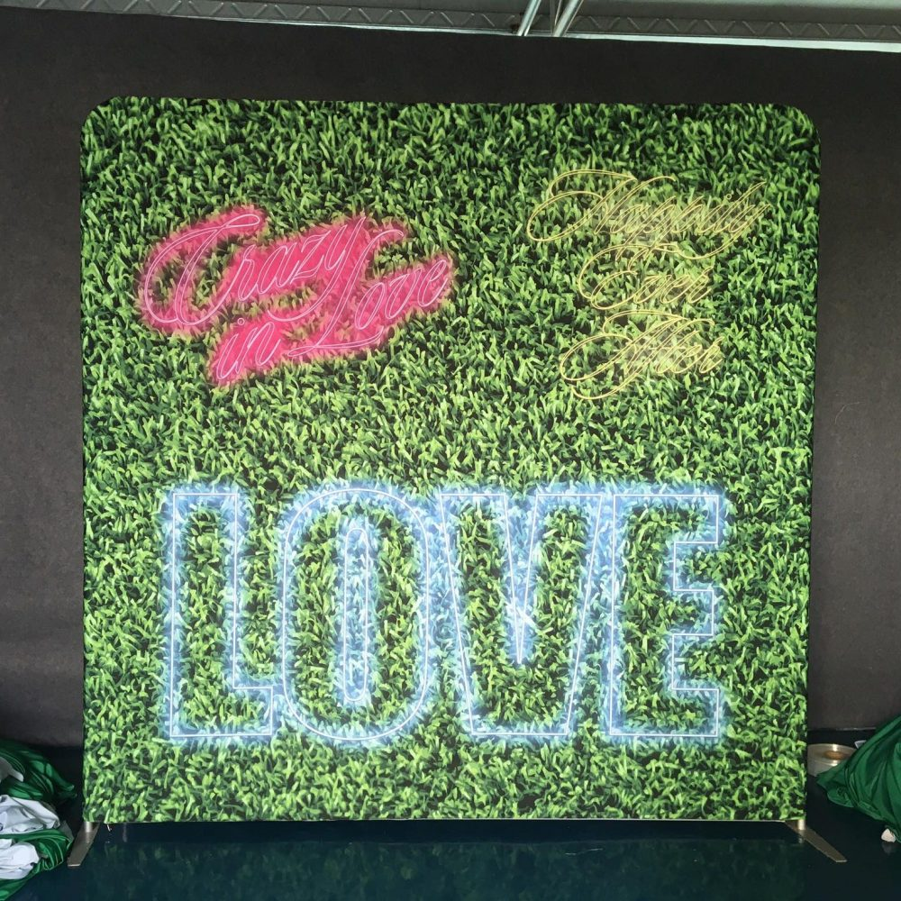 Greenery With LOVE Neon, Crazy in Love, and Happily Ever After Print