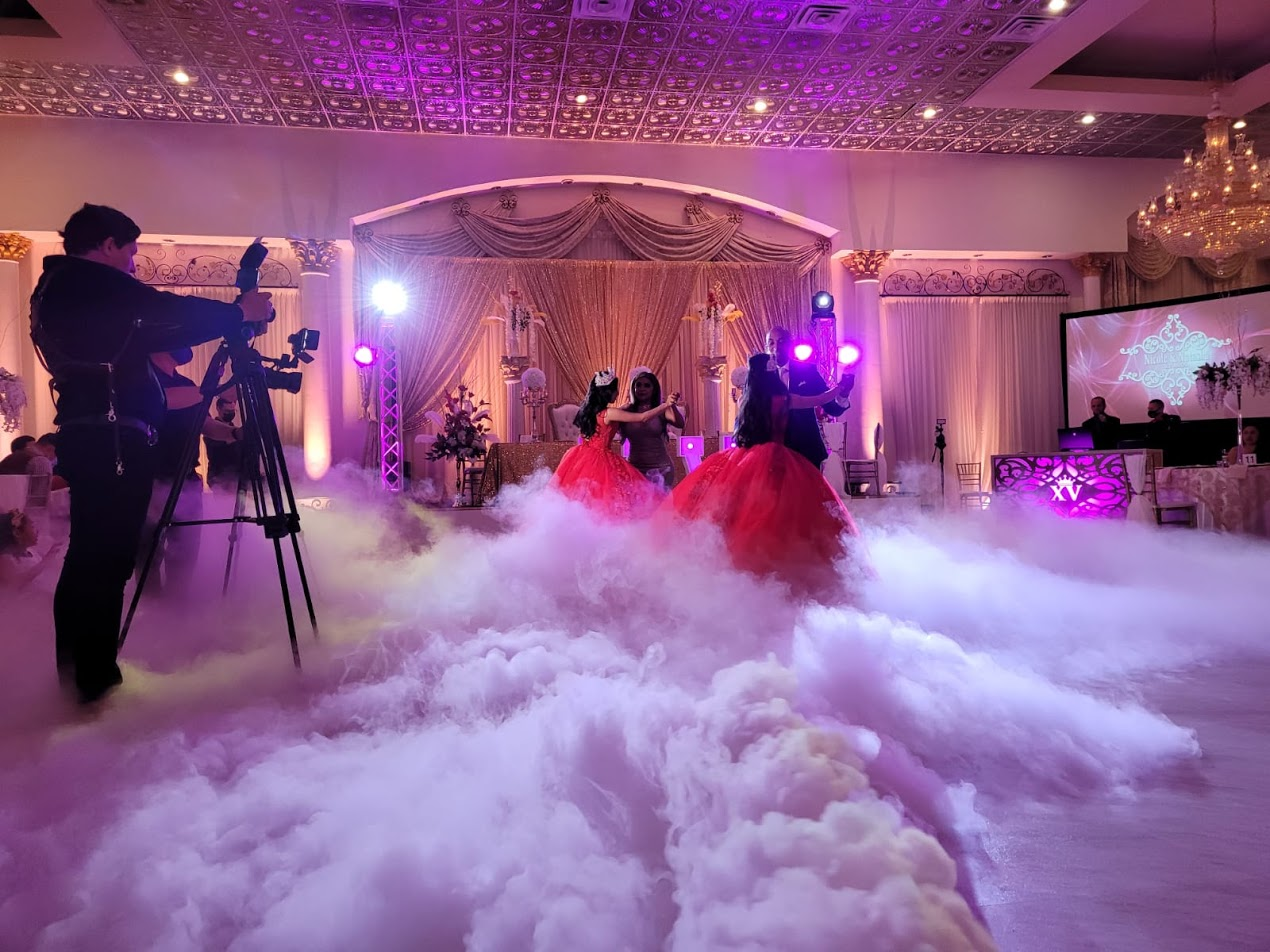 Quinceanera dancing on the clouds at chateau crystale