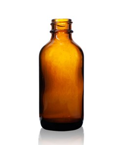 2 oz Boston Round Glass Bottle with 20-400 Neck Finish