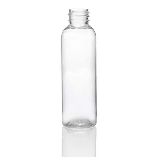 2 oz PET Clear Short Cosmo Round Bottle with 20-410 Neck Finish