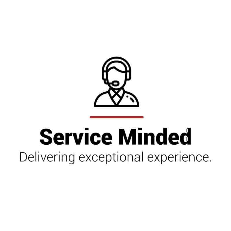 Service Minded values