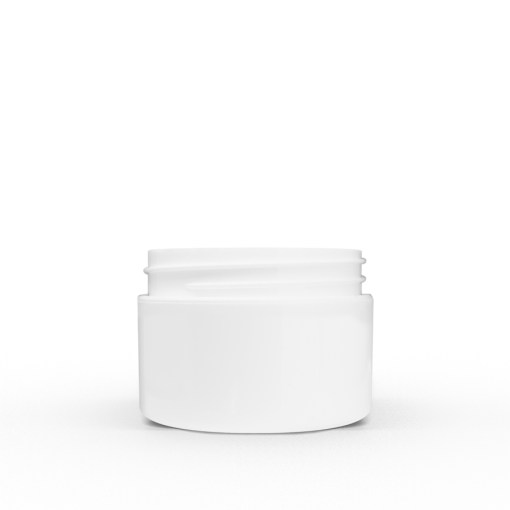 1 oz White Polypropylene Double Wall Straight Sided Jar