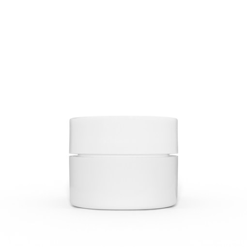 0.25 oz White Polypropylene Double Wall Straight Sided Jar