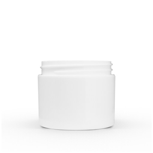 2 oz White Polypropylene Double Wall Straight Sided Jar