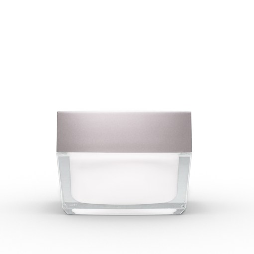 50g Square Acrylic Jar with Silver Lid