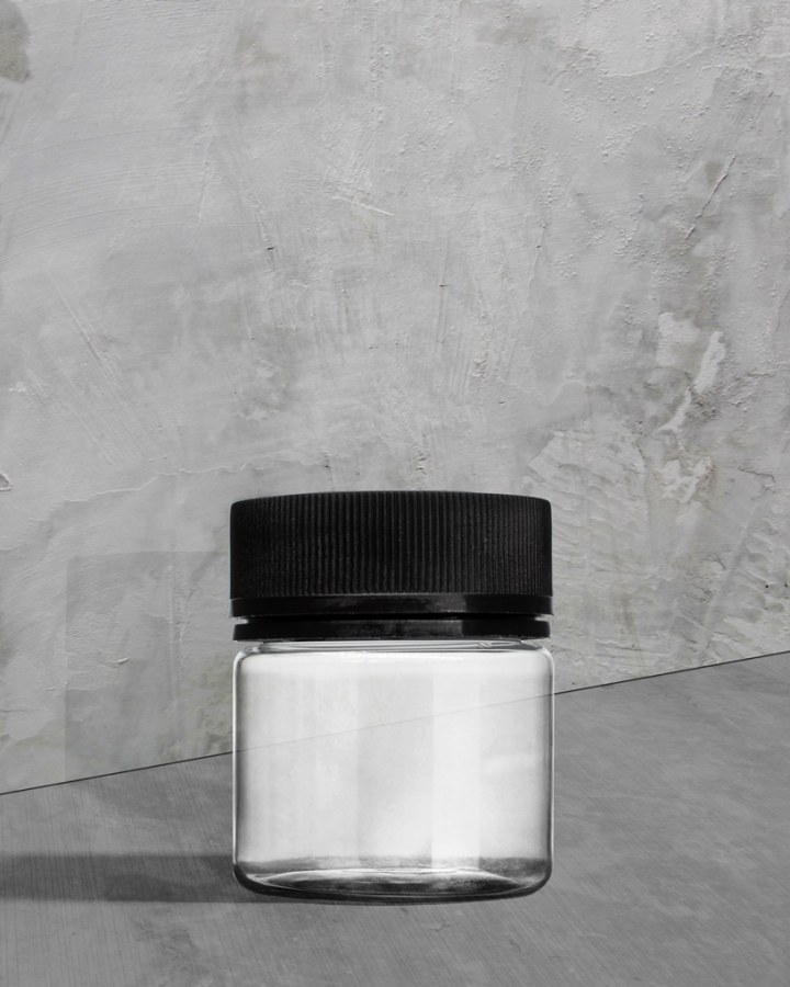 Cannabis Packaging PET Plastic Straight Sided Jar with Tamper Evident Black Cap