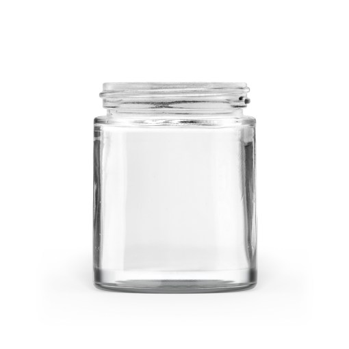 100g 50-400 Clear Glass Straight-Sided Round Jar