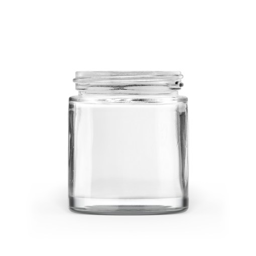 90g 50-400 Clear Glass Straight-Sided Round Jar