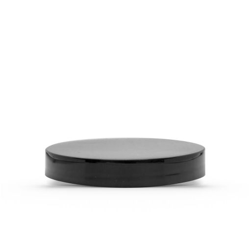 Black 70-400 PP Smooth Skirt Lid with (PS) Pressure Sensitive Liner
