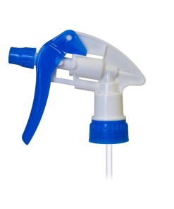 Blue and White 28-400 Chemical Trigger Sprayer with 9-inch Dip Tube and Adjustable Nozzle