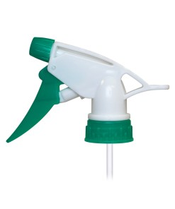 Green & White 28-400 Plastic Inverted Trigger Sprayer with 9-inch Dip Tube