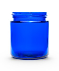 4 oz 58-400 Glass Cobalt Blue Straight Sided Round Jar