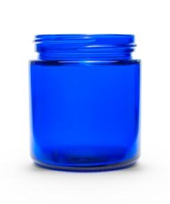 4 oz 58-400 Glass Cobalt Blue Straight Sided Round Jar