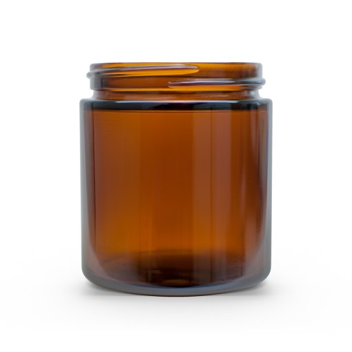 4 oz 58-400 Glass Amber Straight Sided Round Jar