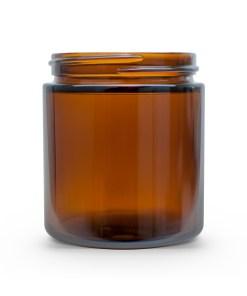 4 oz 58-400 Glass Amber Straight Sided Round Jar