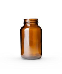 250cc Amber Glass Packer Bottle 45-400 Neck