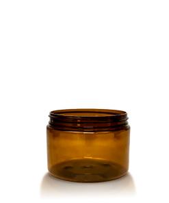 12 oz Amber PET Straight Sided Jar 89-410 Neck Finish