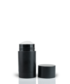70g Matte Black Twist Up Deodorant Tube with Black Screw Cap and Disc