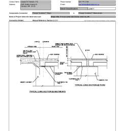 this data sheet shows the connection between a precast inverted t beam and  [ 1700 x 2200 Pixel ]