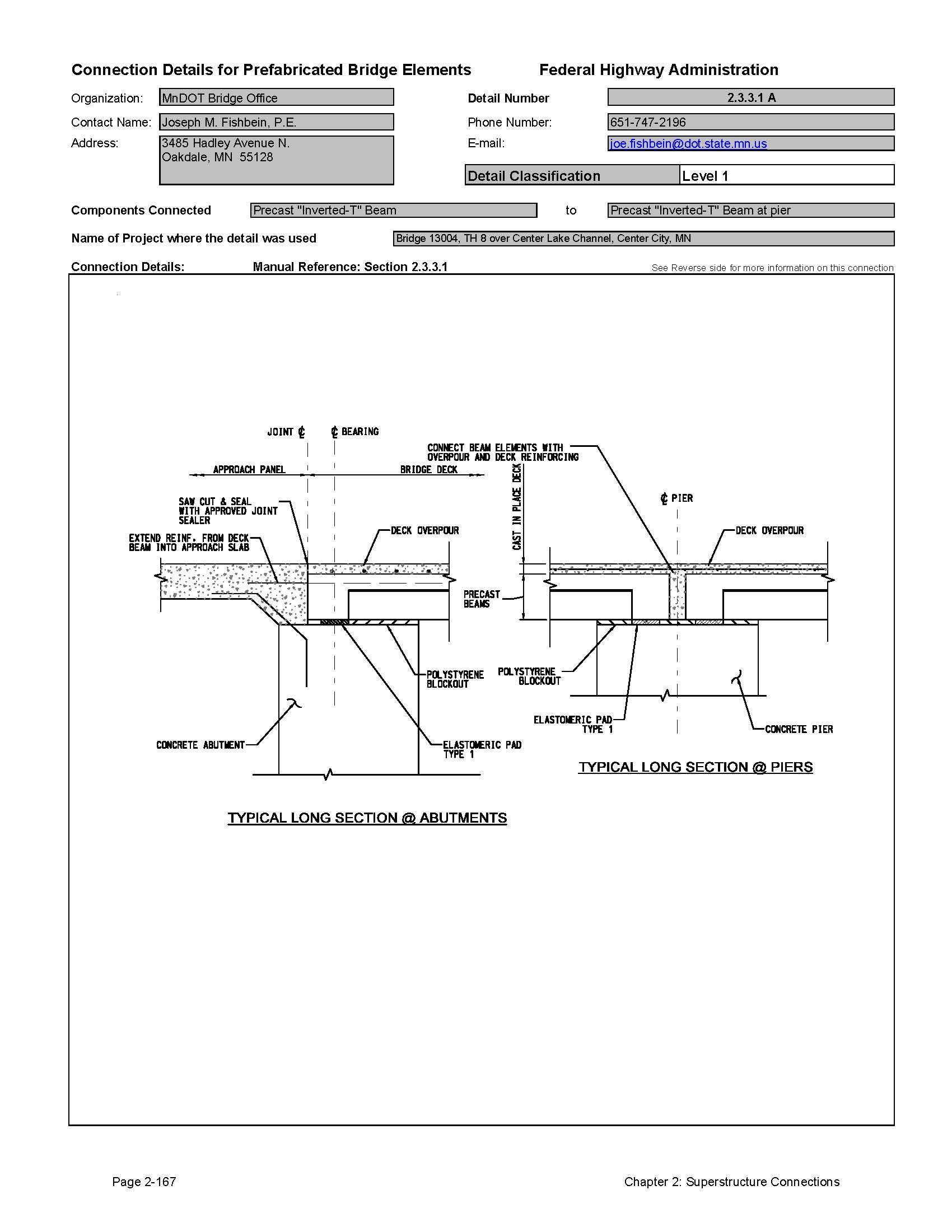 hight resolution of this data sheet shows the connection between a precast inverted t beam and