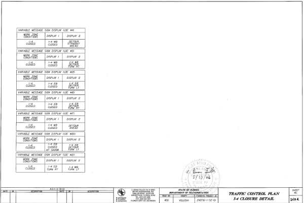 Appendix M Example Plan Sheets for Traffic Control Plans