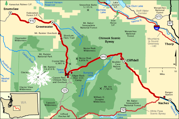 Chinook Scenic Byway Map Americas Byways