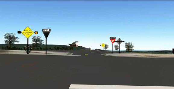 Figure 4 Final Circuit Oneway Road Intersection Traffic Light