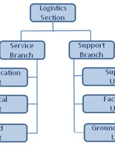Organizational chart describes the units under logistics section including service branch and also nims for frontline transportation workers workbook federal rh fhwat